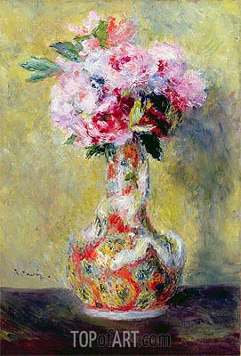 Bouquet in a Vase, 1878 | Renoir | Gemälde Reproduktion