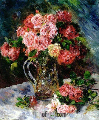 Roses, c.1879 | Renoir | Painting Reproduction