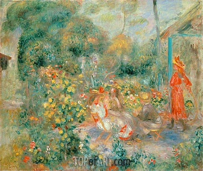 Young Girls in the Garden at Montmartre, c.1893/95 | Renoir | Painting Reproduction