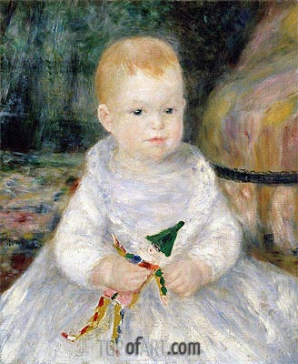 Child with a Toy Clown, undated | Renoir | Painting Reproduction