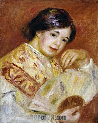 Coco with a Japanese Fan, c.1906 | Renoir| Painting Reproduction