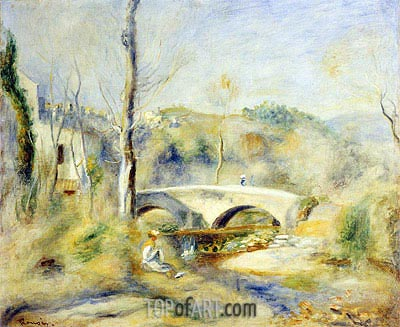 Landscape with a Bridge, undated | Renoir | Painting Reproduction