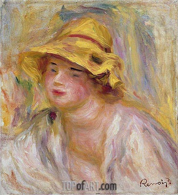 Study of a Girl, c.1918/19 | Renoir | Painting Reproduction