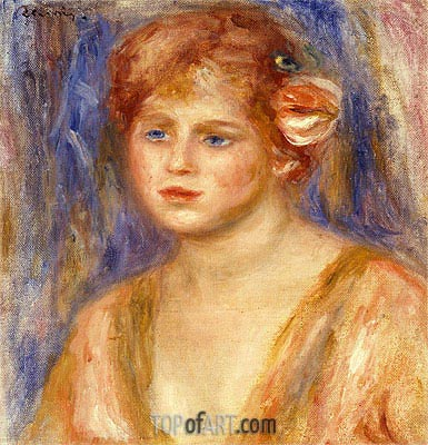 Portrait of a Young Girl, c.1918/19 | Renoir | Painting Reproduction