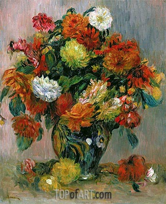 Vase of Flowers, c.1884 | Renoir | Painting Reproduction