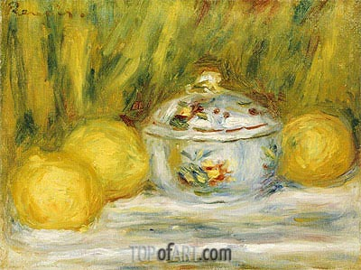 Sugar Bowl and Lemons, 1915 | Renoir | Painting Reproduction