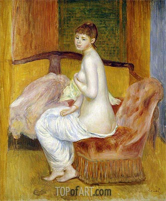 Seated Nude, Resting, 1885 | Renoir | Painting Reproduction