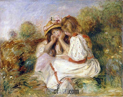 Two Girls, c.1890 | Renoir| Painting Reproduction