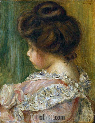Portrait of a Young Girl, undated | Renoir| Painting Reproduction