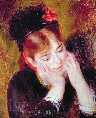 Contemplation, 1877 | Renoir | Painting Reproduction