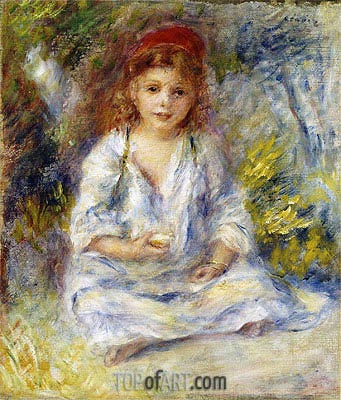 Young Algerian Girl, c.1881 | Renoir| Painting Reproduction