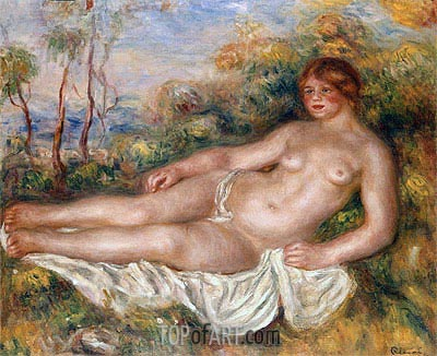 The Reclining Bather, 1906 | Renoir | Painting Reproduction