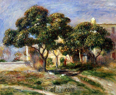 The Medlar Trees, undated | Renoir | Painting Reproduction