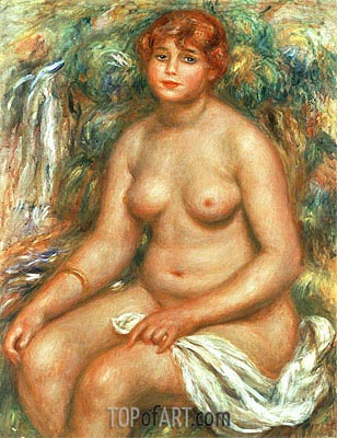 Seated Bather, 1916 | Renoir | Painting Reproduction