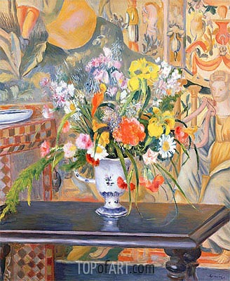 Vase of Flowers, 1885 | Renoir | Painting Reproduction