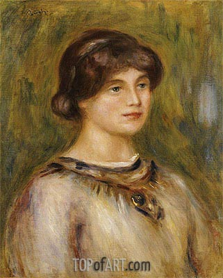 Portrait of Marie Lestringuez, undated | Renoir| Painting Reproduction