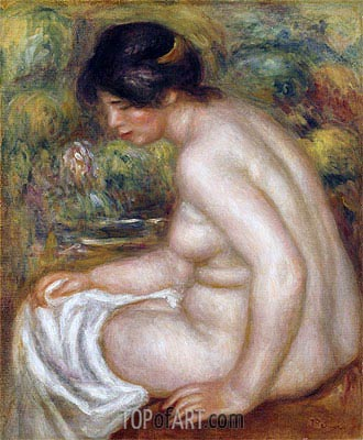 Seated Bather (Gabrielle), undated | Renoir| Painting Reproduction
