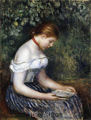 The Reader (A Seated Young Girl), 1887 | Renoir | Painting Reproduction
