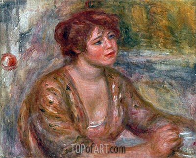 The Cup of Coffee (Portrait of Andree), 1917 | Renoir | Painting Reproduction