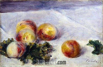 Still Life with Peaches on a Table, c.1890/18 | Renoir | Painting Reproduction