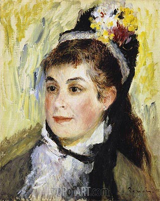 Portrait de Madame Edmond Renoir, 1876 | Renoir | Painting Reproduction