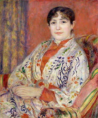 Madame Heriot, 1882 | Renoir | Painting Reproduction