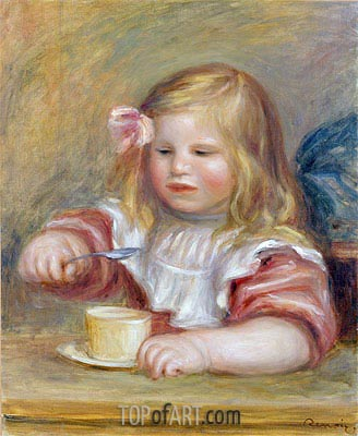 Coco Eating his Soup, undated | Renoir | Painting Reproduction