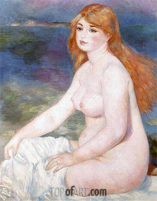 Bather (Blonde Bather II), 1882 | Renoir | Painting Reproduction