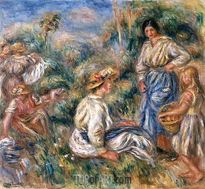 Women in a Landscape, 1912 | Renoir | Painting Reproduction