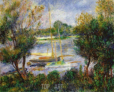 The Seine at Argenteuil, 1888 | Renoir | Painting Reproduction