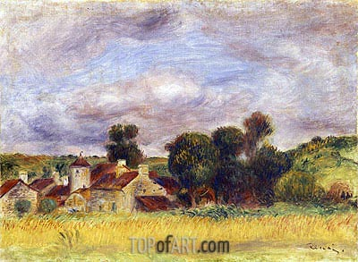 Brittany Countryside, c.1892 | Renoir| Painting Reproduction