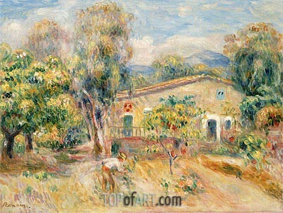 Collettes Farmhouse, Cagnes, 1910 | Renoir | Painting Reproduction