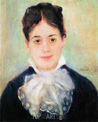 Woman Smiling, 1875 | Renoir | Painting Reproduction