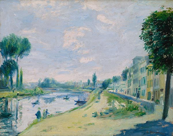 The Banks of the Seine at Bougival, c.1875 | Renoir| Painting Reproduction