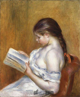 Reading, 1888 | Renoir | Painting Reproduction
