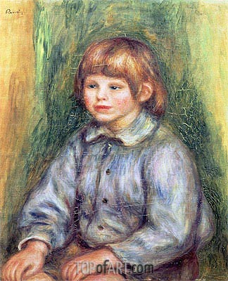 Seated Portrait of Claude Renoir, c.1905/08 | Renoir | Painting Reproduction