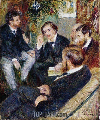 The Artist's Studio, Rue Saint-Georges, 1876 | Renoir| Painting Reproduction