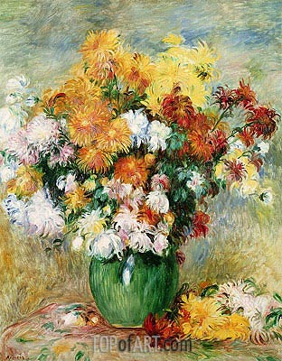 Bouquet of Chrysanthemums, c.1884 | Renoir| Painting Reproduction