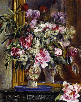 Vase of Flowers, 1871 | Renoir| Painting Reproduction