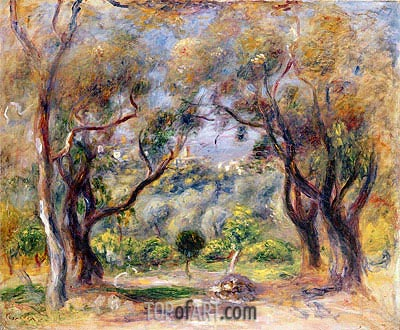 Landscape at Cagnes, undated | Renoir | Painting Reproduction