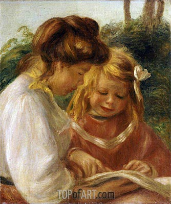 The Alphabet, Jean and Gabrielle, undated | Renoir| Painting Reproduction