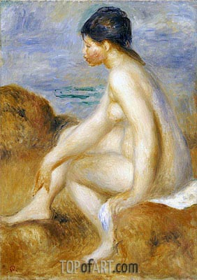 Bather, c.1892/93 | Renoir | Painting Reproduction