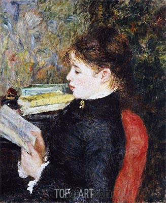 The Reader, 1877 | Renoir | Painting Reproduction