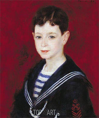 Portrait of Fernand Halphen, 1880 | Renoir | Painting Reproduction