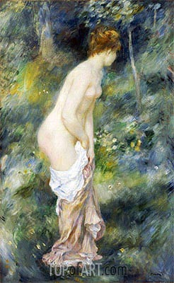 Standing Bather, 1887 | Renoir | Gemälde Reproduktion