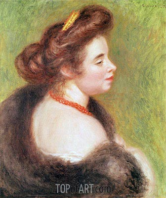 Portrait of Madame Maurice Denis, 1904 | Renoir| Painting Reproduction