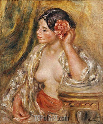 Gabrielle a sa Coiffure, 1910 | Renoir| Painting Reproduction