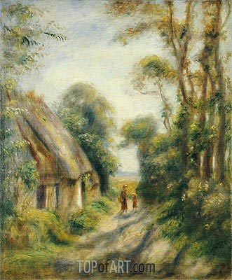 The Outskirts of Berneval, 1898 | Renoir | Gemälde Reproduktion