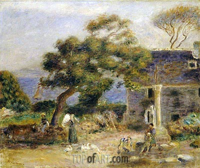 View of Treboul, c.1895 | Renoir | Painting Reproduction