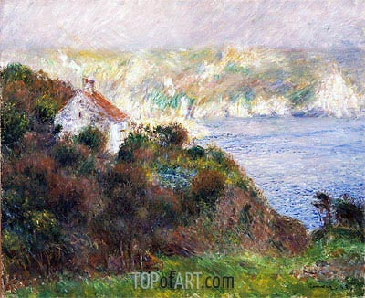 Fog on Guernsey, 1883 | Renoir| Painting Reproduction